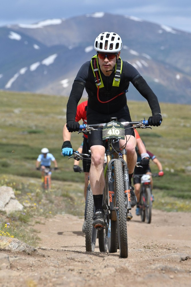 Leadville Trail 100 MTB August 10th, 2019, nearing the top of the Columbine Climb.