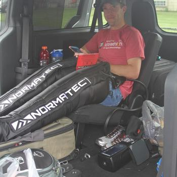 Normatec after a multi day race