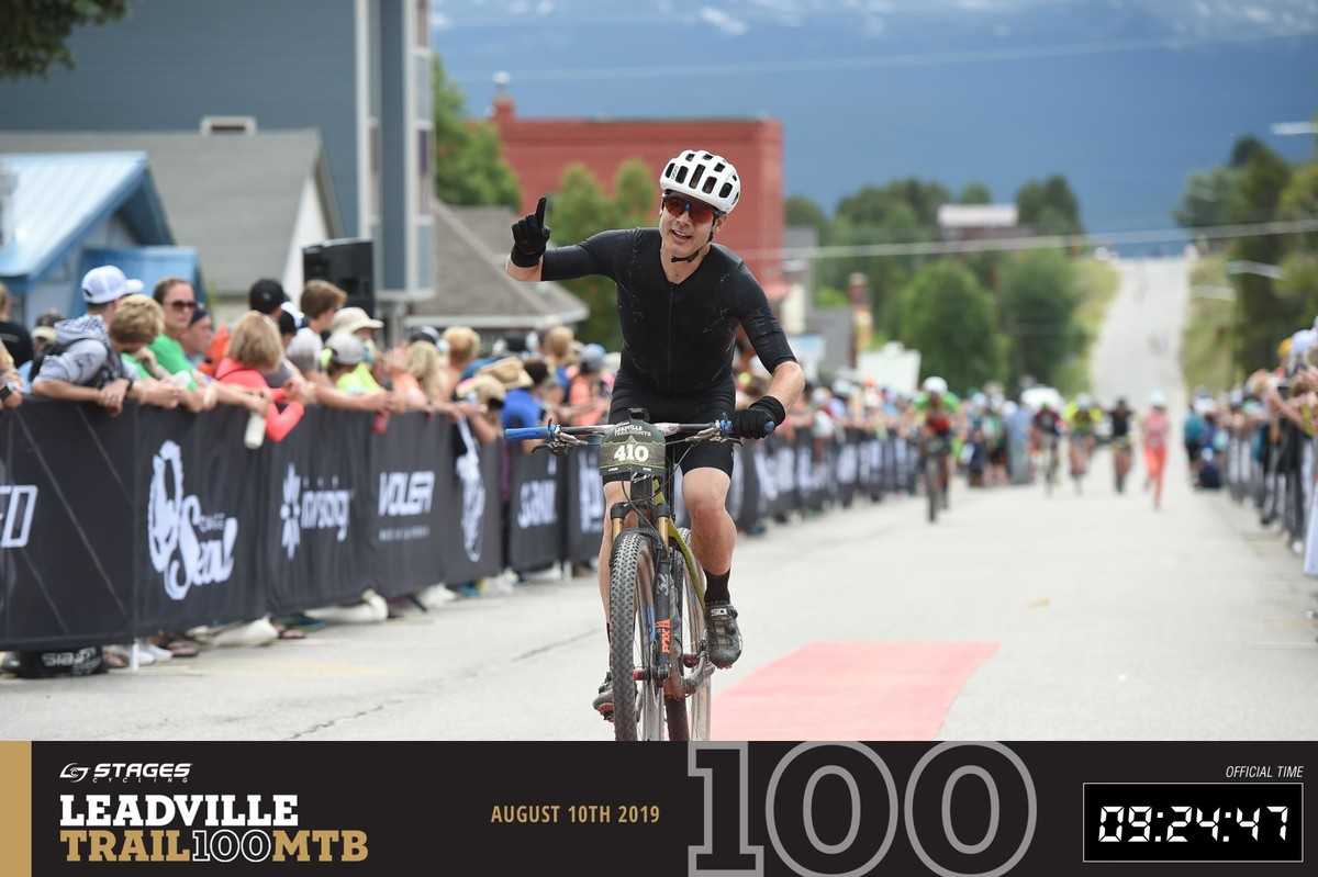 Leadville Trail 100 MTB 2019 finish line.