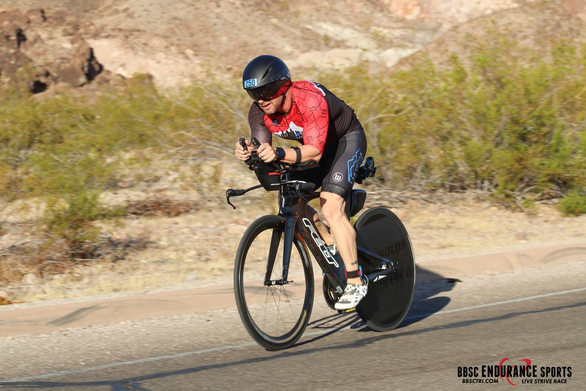 Olympic Distance BBC Triathlon Lake Meade NV - Coming down a fast hill