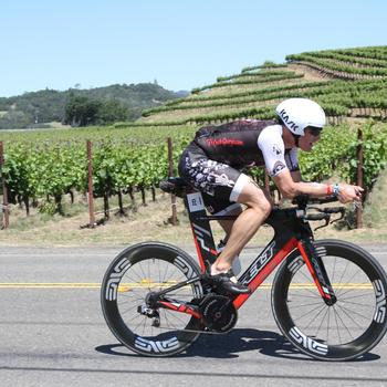 Riding my ENVE wheels in the beautiful wine country
