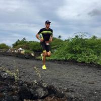 Running through the lava fields!